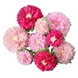 Mybbshower Pink Paper Flower Wedding Centerpiece Birthday Party Backdrop Nursery Wall Home Decoration Pack of 9