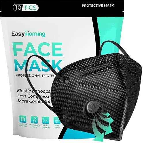 Black Face Mask With Filter | 6 Layers | 10pcs | Disposable Face Masks | Face Masks For Women For Men | Respirator Mask | Breathable Face Mask | Non-Woven Disposable Masks