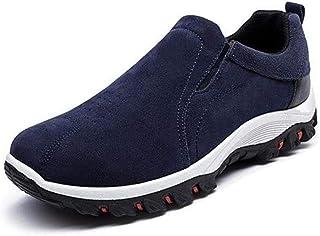 iSunday 1 par de zapatos de senderismo para hombre, transpirables, antideslizantes, impermeables, para escalada al aire li...