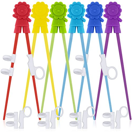 6 Pairs of Easy-to-Use Training Chopsticks with Helpers, SourceTon Training Chopstick for Right or Left-Handed Kids Teens Adults Beginners