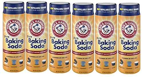 Arm & Hammer Baking Soda Shaker, 12 Oz, Pack of 6