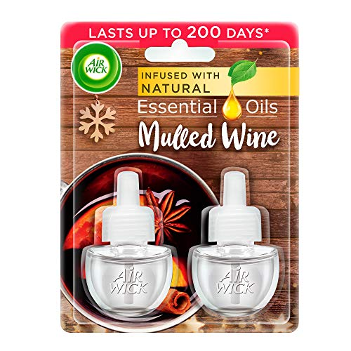 Air Wick Scented Oil for Electrical Plug Diffuser Mulled Wine Fragrance, 2...