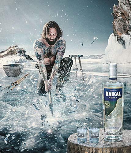 Baikal Vodka, sibirischer Premium Wodka 40% vol., Qualitäts Vodka mit Wasser des Baikalsees hergestellt (1 x 0.7 l) - 3