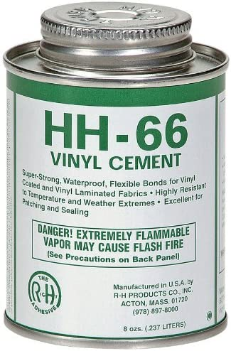 high quality New Pig PTY105, HH-66 Industrial Strength Vinyl Cement Glue popular with Brush, popular 8 oz, Clear sale