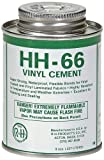 New Pig PTY105, HH-66 Industrial Strength Vinyl Cement Glue with Brush, 8 oz, Clear