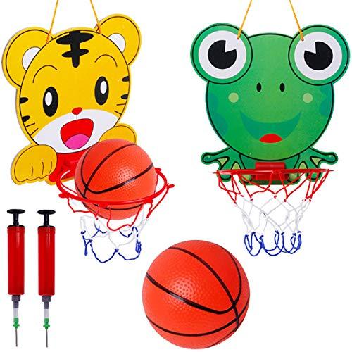 Mini Set da Pallacanestro da Interno Tomicy Cartoni animati Canestro Basket da Camera con Sfera e Pompa Mini Canestro da Basket per Giochi Aperto e Interno Bambini Adatto per 1-6 Anni