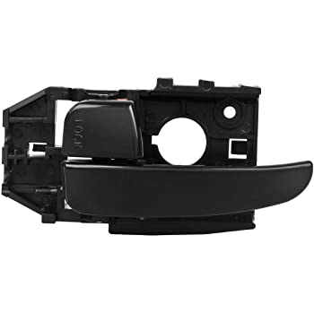 AUTEX Door Handle 83452 Smooth Black Interior Front Left Driver Side Compatible with Elantra 2001 2002 2003 2004 2005 2006