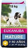 EUKANUBA Alimento seco para perros maduros de raza mediana, rico en pollo fresco 15 kg