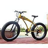 Adulto Fat Bike Antideslizante Outroad Racing Cycling,inchDe Acero De Alto Carbono BMX Todo Terreno Bicicleta De Trekking,Frenos De Disco Dobles Una Variedad De Colores D -7 Velocidad -26 Inch