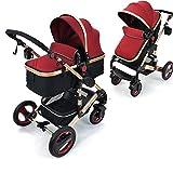 Daliya Bambimo 2in1 Kinderwagen - Kombikinderwagen 9-Teiliges Set incl. Babywanne &...