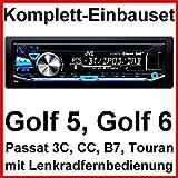 Komplett-Set Golf 5 6 Passat 3C CC Touran JVC KD-DB97BT Autoradio USB DAB+ CD
