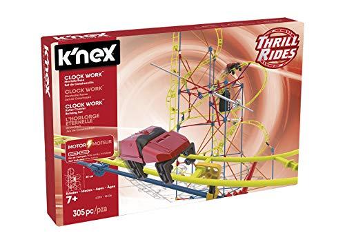 K'nex 41210 Thrill Rides. Clock Work Montaña Rusa. Juego de Construcción con Motor. 305 Piezas. + 7 años. (Ref, 4 Metros de Recorrido