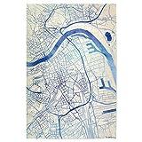 artboxONE Poster 75x50 cm Städte Linz O?sterreich Blue