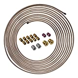 4LIFETIMELINES Copper-Nickel Brake Line Tubing Coil and Fitting Kit -...