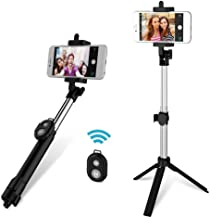 Xuendao Portable Bluetooth Remote Shutter Selfie Stick Monopod Tripod Phone Stand Holder Foldable Travel Essential