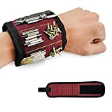ToDo Bracelet magnétique avec 10 des aimants forts pour Les vis de maintien, clous, vis, ciseaux, trépans de forage, Best Tool Cadeau pour Bricoleur Handyman, Hommes, Femmes - Noir
