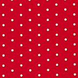 Fabulous Fabrics Jersey rot, Punkt, 150cm breit – zum