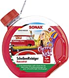 SONAX ScheibenReiniger Konzentrat Cherry Kick (3 l) Sommerrreinigungskonzentrat für die Scheiben-...