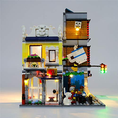 RTMX&kk Kit de Iluminación LED para Tienda de Mascotas y cafetería Townhouse Modelo de Bloques de Construcción, Conjunto de Luces Lluminación Compatible con Lego 31097 (NO Incluido en el Modelo)