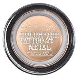 Maybelline New York Eyestudio ColorTattoo Metal 24HR Cream Gel Eyeshadow, Barely Branded, 0.14 Ounce (1 Count)