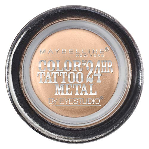 Maybelline New York Eye Studio Color Tattoo Metal 24 Hour Cream Gel Eyeshadow, Barely Branded, 0.14 Ounce