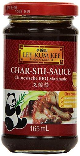 Lee Kum Kee Char Siu Sauce (chinesische BBQ Sauce, aus China, süß, vegetarisch, herzhaft, ohne Glutamat, Konservierungsstoffe, Farbstoffe) 6er Pack (6 x 165 ml)