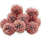 Aisamco 12 Stück künstliche Chrysanthemen Kugel Blumen mit Stielen Seide Hortensie Arrangement Bouquet künstliche Blumen für Heimbüro Kaffeehaus Party und Hochzeitsdekoration