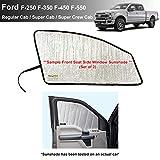 Side Window Front Seat Sunshade Custom Fit for 2017 2018 2019 2020 2021 Ford Super Duty F-250 F250 F-350 F350 F-450 F450 F-550 F550 - Regular Cab, Super Cab, Super CrewCab - 2Dr 4Dr 4Door (Set of 2)