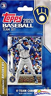 Milwaukee Brewers 2020 Topps Baseball EXCLUSIVE Special Limited Edition 17 Card Complete Factory Sealed Team Set with Christian Yelich, Ryan Braun, Josh Hader & Many More Stars & Rookies! WOWZZER!