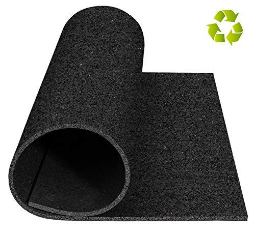 Gummi Unterlegmatte für Fitnessgeräte, Gymnastikmatte oder Turnhallenboden - 5 mm Robust rutschfest Schalldämmende Boden-Schutzmatte, 60 X 60 cm