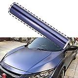 Metallic Midnight Blue Indigo Car Wrap Vinyl Roll Car DIY Wrap Vinyl Film with Air Release 20CM x 1.52M