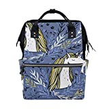 FHTDH Bebé Cambio de pañales Bolsos cambiadores Mochi Retro Cool Skull Pattern Diaper Bags Mummy Tote Bags Large Capacity Multi-Function Backpack for Travel