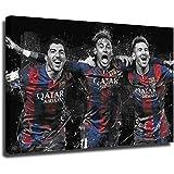 Lionel Messi Suarez Neymar Kunstdruck auf Leinwand und