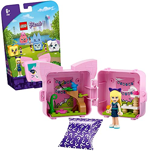 LEGO Friends Il Cubo del Gatto di Stephanie, Giocattoli con Mini Bamboline, Idea Regalo per Bambino...