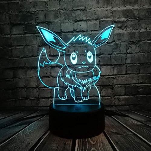Nachtlampje Go 3D RGB lamp schildpad vogel vuur draak pokeball boek rol geschenk nachtlampje led