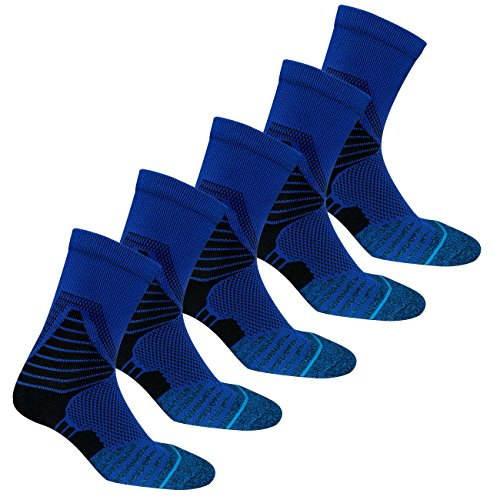Boy's Athletic Socks Sport Basketball Cushioned Youth Elite Crew Sock 5 Pairs