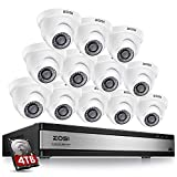 ZOSI H.265+ 1080p 16 Channel Security Camera System,16 Channel