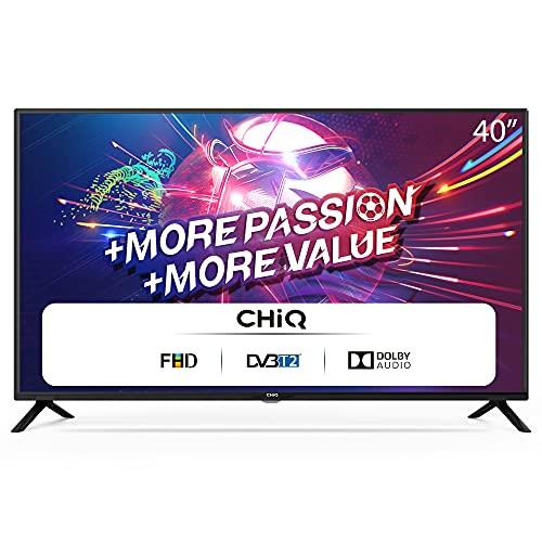 """CHiQ L40G4500 40"""" Full HD LED LCD TV,40 Pouces (101cm), titple tunner (DVBT / T2 / C / S2), Lecteur Multimédia Via Port USB Téléviseur,Dolby Audio,3 HDMI, 2 USB, Direct LED"""