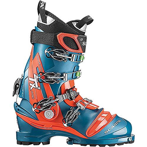 Scarpa Men's Tx Pro Telemark Ski Boot - Lyons Blue/red Orange