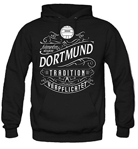 uglyshirt87 Mein Leben Dortmund Kapuzenpullover | Freizeit | Hobby | Sport | Sprüche | Fussball | Stadt | Männer | Herren | Fan | M1 Front (XL)