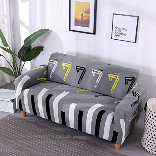 JHLD Fundas para Sillones para 1 2 3 4 Plaza, Elástica Cubre Sofa Color Impresión Stretch Poliéster Tela Funda Sofá para Niños Mascota-E-3Asiento 190-230CM (75-90inch)