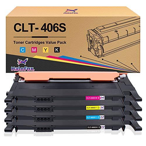 HaloFox Kompatible Tonerkartusche für Samsung CLT-406 für Samsung Xpress CLT-406S CLP-360 CLP-365 CLP-365W CLX-3300 CLX-3305 CLX-3305FN CLX-3305FW CLX-3305W Xpress C410W SL-C460FW Drucker (4 Pack)
