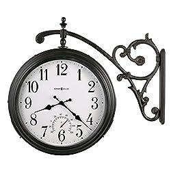 Howard Miller Luis Indoor / Outdoor Wall Clock 625-358 – Round with Quartz Movement