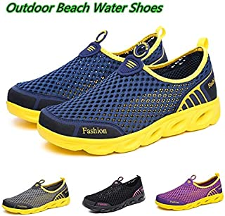 Men&Women Aqua Shoes Outdoor Beach Water Shoes Upstream Creek Snorkeling Boots Neoprene Non-Slip Lightweight(Purple,38)