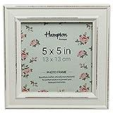 Hampton Frames PAL301955W Paloma Cadre Photo carré en Bois Style Shabby Chic 13 x 13 cm Blanc