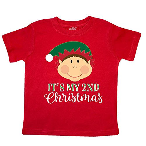 inktastic My 2nd Christmas Holiday Elf Toddler T-Shirt 2T Red 2da72