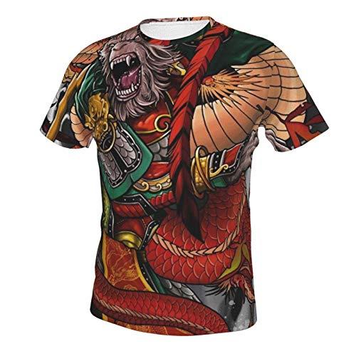 Men's Shirts Short Sleeve Henley Shirt Tees Basic Tucked Daily Wear Japanese Monkey King L