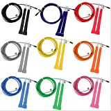 FYI Jump Skipping Ropes Cable Steel Adjustable Fast Speed ABS Handle Jump Ropes