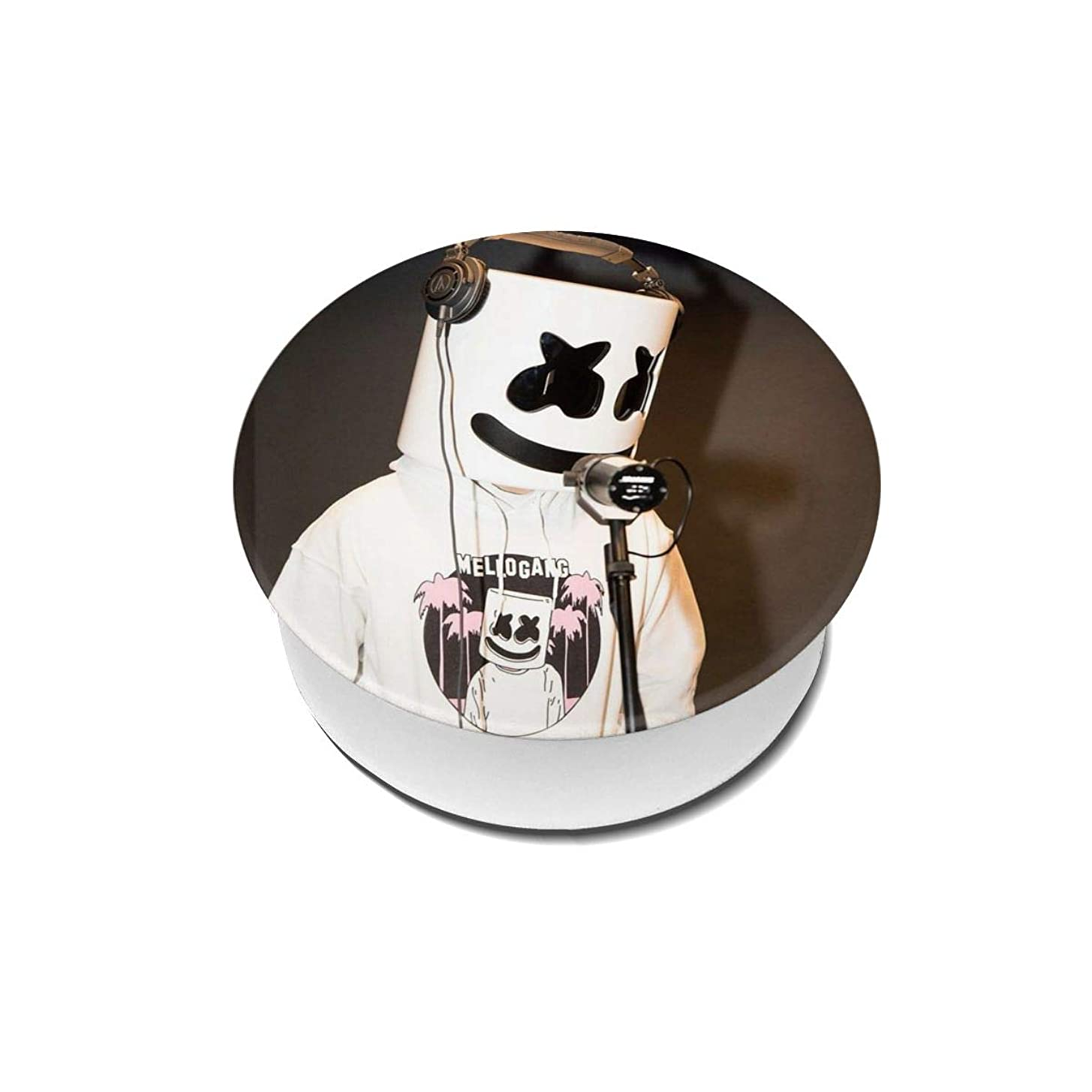 胚家統合Yinian 4個入リ マシュメロ Marshmello スマホリング/スマホスタンド/スマホグリップ/スマホアクセサリー バンカーリング スマホ リング おしゃれ ホールドリング 薄型 スタンド機能 ホルダー 落下防止 軽い 各種他対応/iPhone/Android(2pcs入リ)