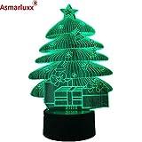 Weihnachtsbaum beleuchtet Atmosphäre beleuchtet Nachtlichtnotenschalterfarbändernde Schlafzimmerlampenausgangsdekorations-Lavalampe